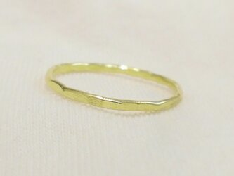 Hammered ring(真鍮)の画像