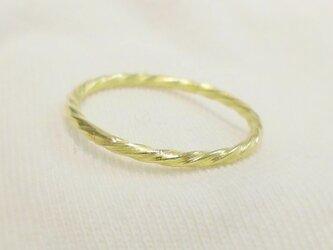 Mini twist ring(真鍮)の画像