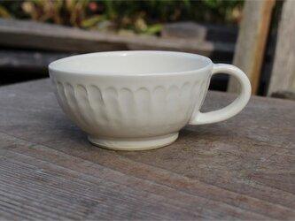 白の器 スープカップ[18Fev-60]《釉薬》の画像