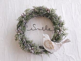 ことりのミニベリー Smile リースの画像
