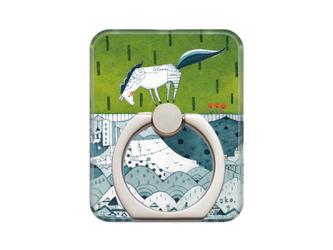 toko.のスマホリング - 茶わんいっぱいの芝生 藍陶器ver. -【受注可】の画像