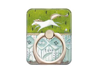 toko.のスマホリング - 茶わんいっぱいの芝生 白磁器ver. -【受注可】の画像
