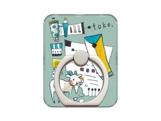 toko.のスマホリング - ヤギさん -【受注可】の画像