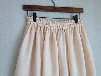 Wガーゼ(サーモンピンク)・ロングスカートの画像
