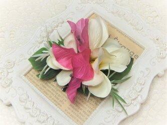 フラガール 2wayクリップ プルメリア&ブーゲンビリア☆*:ホワイトの画像