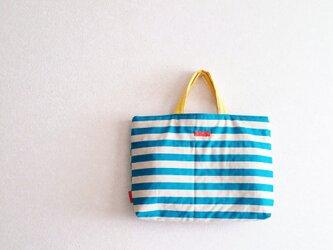 入園入学bag&巾着セット ターコイズブルーの画像