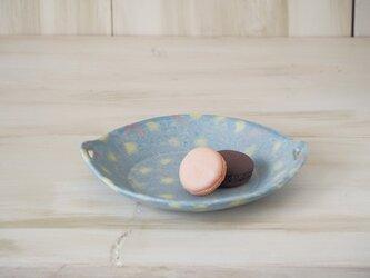 hana*hana手つき丸皿-ブルー-の画像