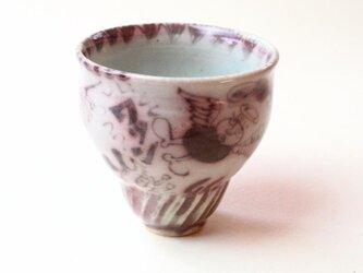 天使と犬と魚の器 / 陶芸 /釉裏紅 /茶器 /ティーカップ /ceramic /pottery /teacupの画像