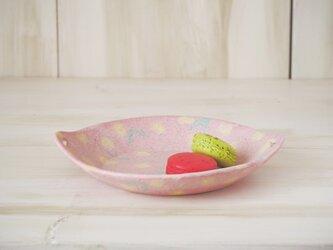 hana*hana手つき丸皿-ピンク-の画像