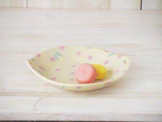 hana*hana手つき丸皿-イエロー-の画像