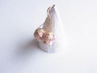加賀ゆびぬきピアス/イヤリング『葉桜』の画像