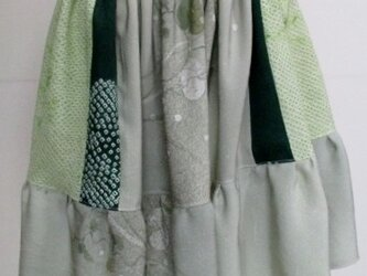 送料無料 絞りの羽織と訪問着で作ったミニスカート3297の画像