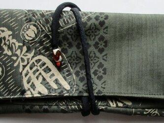 送料無料 正絹の長襦袢で作った和風財布・ポーチ 3299の画像