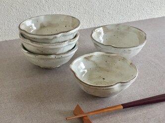 粉引輪花鉢 5客揃の画像