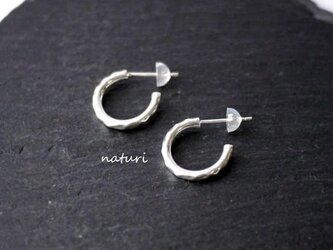 【tronc】sv925 hammered pierce S (2pcs)の画像