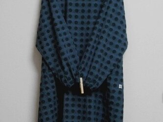 木綿のかっぽう着 青黒の画像