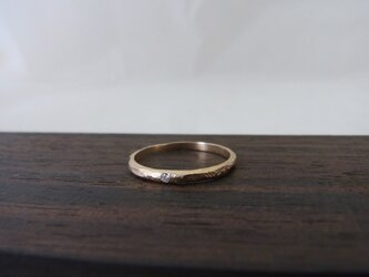 K10YG Diamond ringの画像