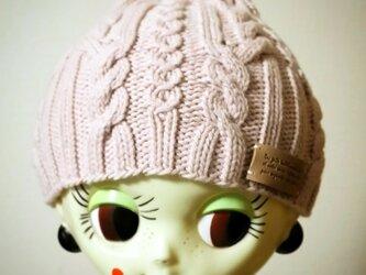 オーガニックウールのニット帽【ソメイヨシノ】の画像