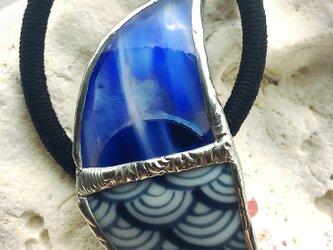 琉球ガラスと和柄の月 ①の画像