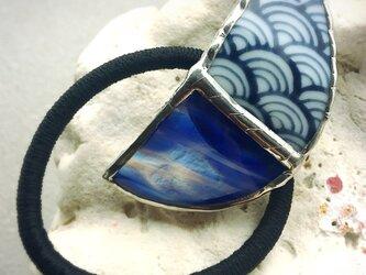琉球ガラスと和柄の月 ②の画像