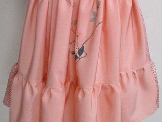送料無料 縮緬の反物と絞りの着物で作ったミニスカート 3300の画像