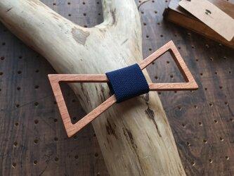 木の蝶ネクタイ #Triangle  Navyの画像