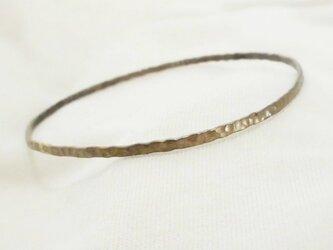 槌目バングル(真鍮古美)の画像