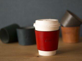 《刻印できます♪》レザーのコーヒースリーブ♪(全5色)の画像