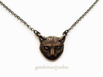 猫のアンティーク風ネックレス【長さ変更可】の画像
