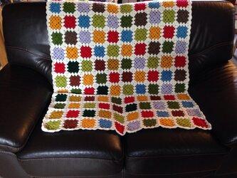 カラフル手編みカバーの画像