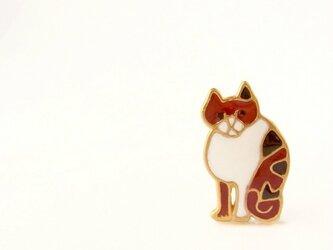 猫ブローチ(まめ)の画像