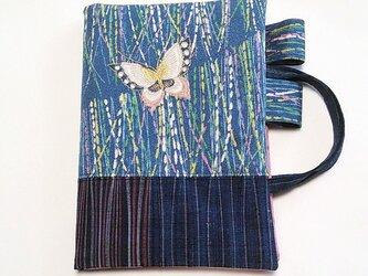 「和暦日々是好日」手帳のためのカバーバッグ、右一蝶(B6ツバメノートもOK)の画像