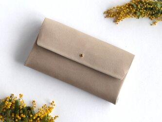suare long wallet #graige/ スアレロングウォレット 長財布 #グレージュの画像