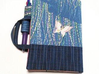 「和暦日々是好日」手帳のためのカバーバッグ、左一蝶(B6ツバメノートもOK)の画像