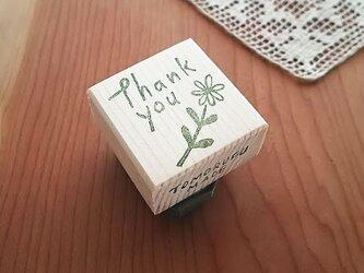 消しゴムはんこ「Thank You 草花」の画像