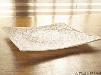 ガラスの角皿 - 「 KAZEの肌 」● 約21,5cmの画像
