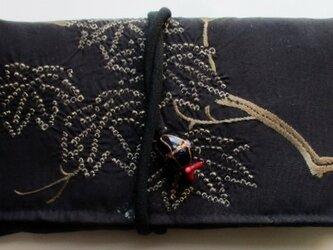 送料無料 帯で作った和風財布・ポーチ 3305の画像