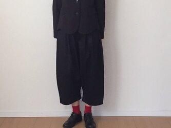 【受注製作】 バルーンパンツ ブラックの画像