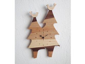時計 森の記憶 twin treeの画像