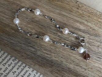 pearl*andesine*silverbraceletの画像