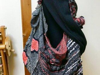 着物リメイク手織り風呂敷バッグ&マフラーの画像