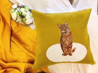 手刺繍 MPKクッションカバー(MEOCUSH107)の画像