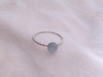 アクアマリンの指輪(銀)の画像