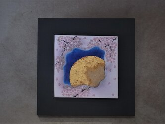 夜桜 4 (陶板)の画像