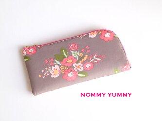 L字ファスナー長財布    ピンクの花束  *242*の画像