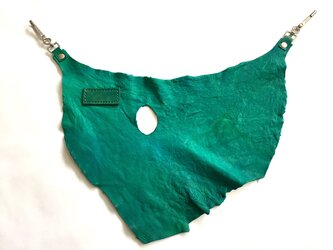【一点限り】エゾシカ革バムフラップ グリーンの画像