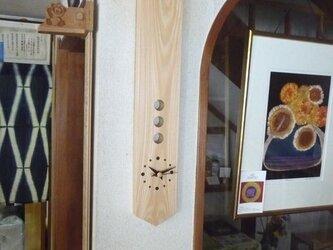 ひのきの柱時計の画像