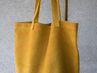 SWB-1 洗えるスウェードトートバッグ【からし】の画像