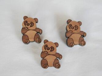 ブローチ・パンダの画像