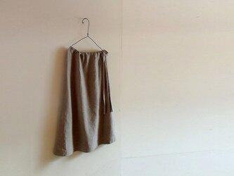 リネン ウエストリボン スカートの画像